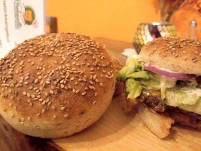 glutenfreies Hamburgerbrötchen