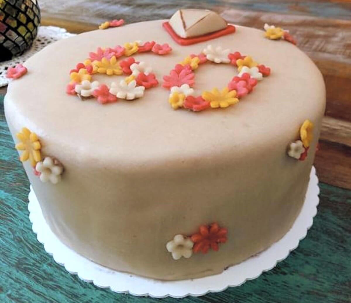 glutenfreie Torte zur Diamantenen Hochzeit (60 Jahre)